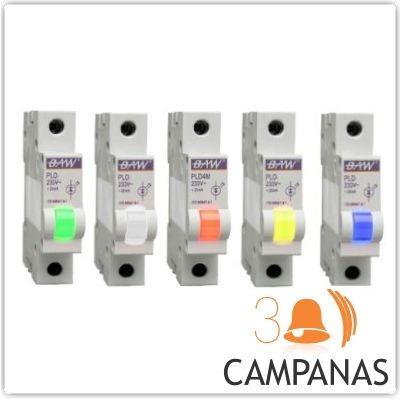 luz señalizacion piloto c/led para riel din 220v