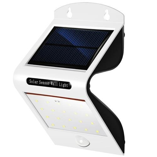 luz solar led con sensor de  movimiento al aire libre