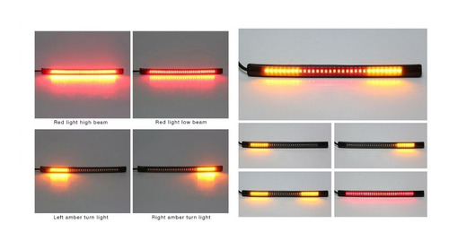 luz stop con direccionales integradas cinta led flex motos