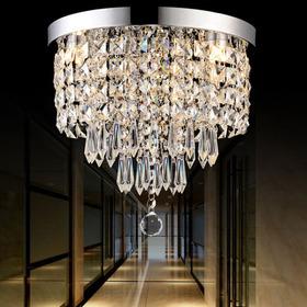 Luz Techo Cristal Elegante Araña Vendimia Colgante Fixture I