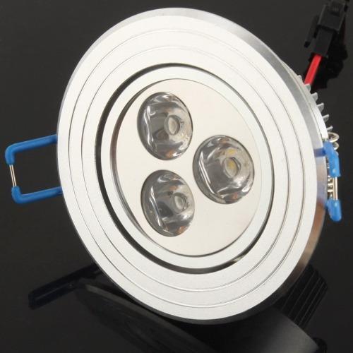 luz techo downlight 3w led blanco calido dia linterna