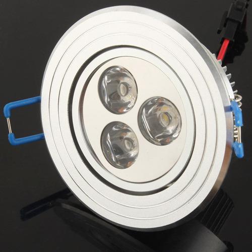 luz techo downlight caliente aluminio led abajo 3 blanco