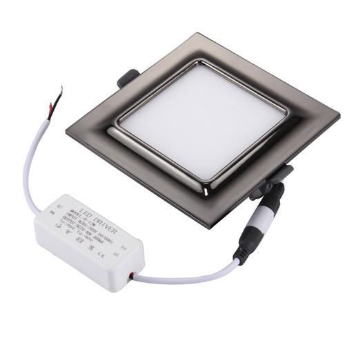 luz techo panel 9w 45 2835 square electroplating led negro
