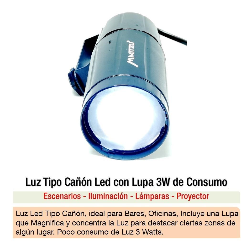 Luz De Lupa Led 3w Consumo M1 Tipo Bares Con Lampara Cañón 8nwkOPX0