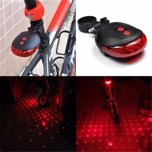 luz traseira led bicicleta laser sinalizador pontinhos chão