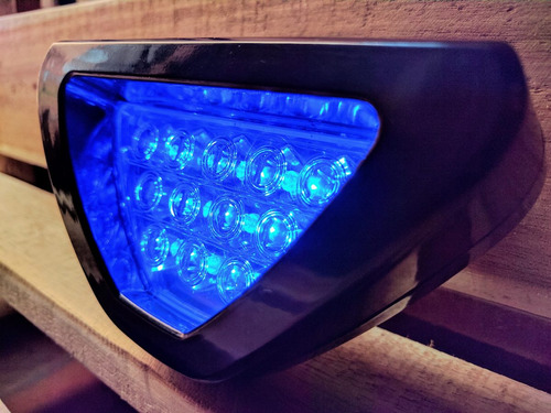 luz trasera azúl f1 led tercer stop bomper carros tuning
