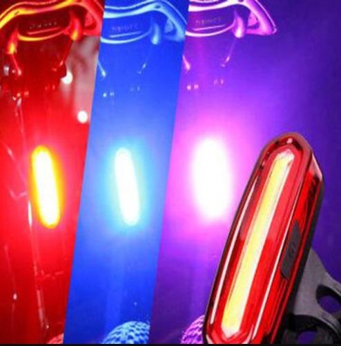 luz trasera bicicleta ultrabrillante luz roja y azul 6 pasos