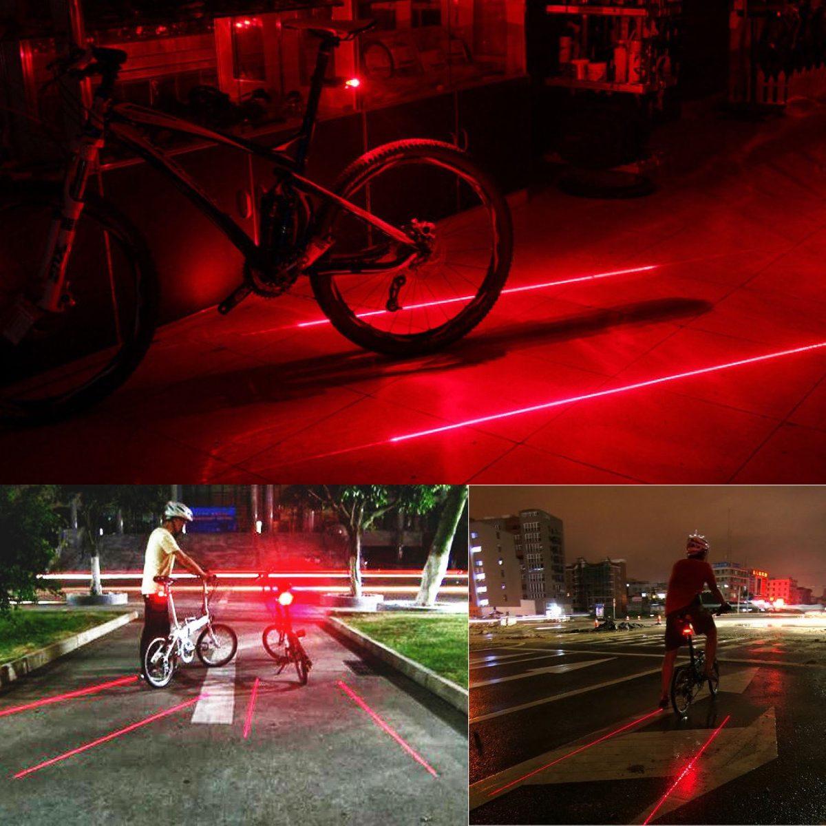 Luz Trasera Con Laser Laterales Para Bicicleta 295 00