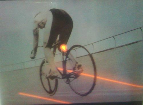 luz trasera led y láser para bicicleta batería recargable