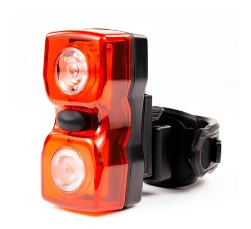 luz trasera para bicicleta serfas twin usb 30 lumens