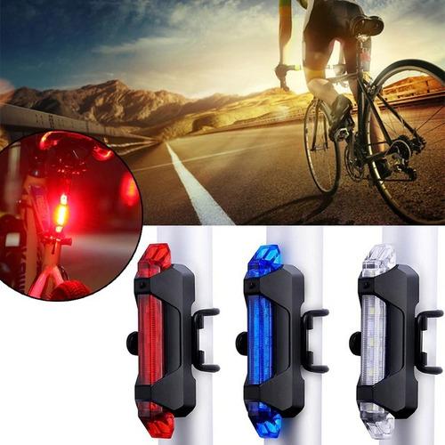 luz trasera recargable usb bici rapid velocity x bicicleta