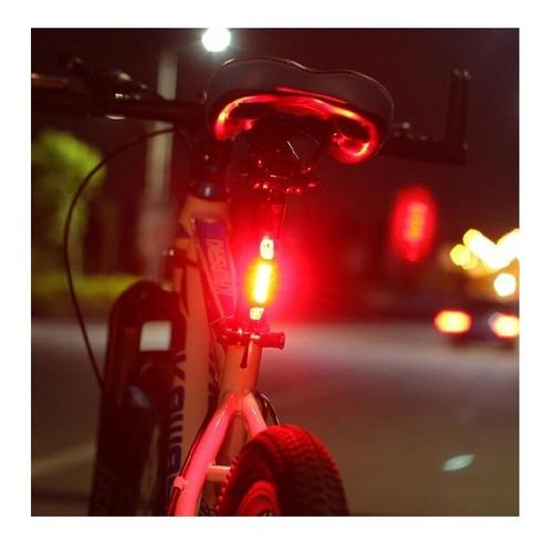 luz trasera recargable usb casco rapid x bicicleta seguridad