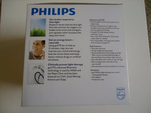 luz/terapia: philips golite blu