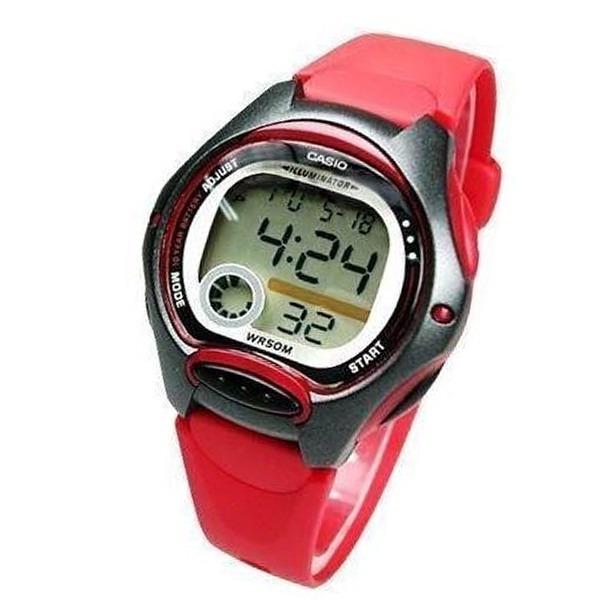 3666591d41e Lw-200-4av Relogio Casio Digital Feminino Pequeno Vermelho - R  184 ...