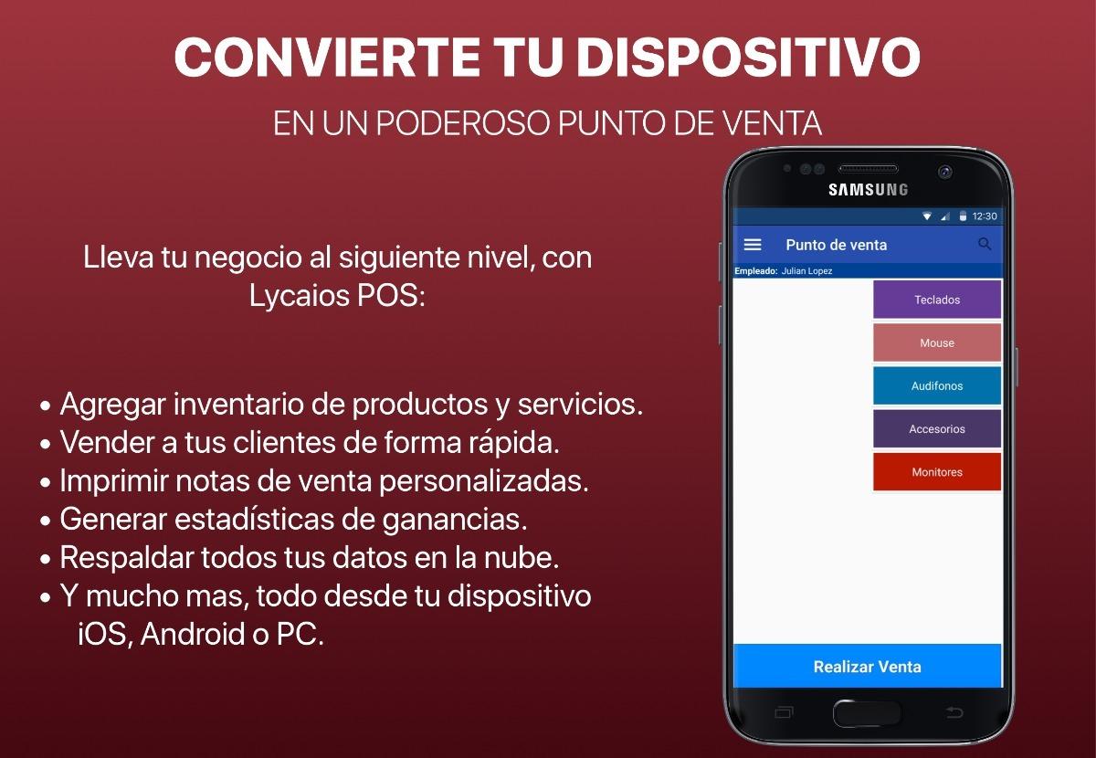 Lycaios® Pos - Punto De Venta Iphone Ipad Android Pc Windows ...
