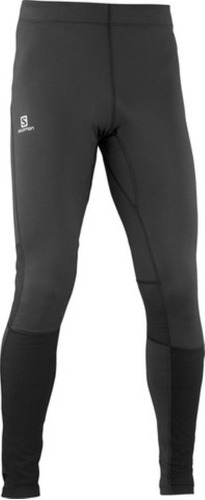 lycra  masculina salomon- star tight m negro-trail running