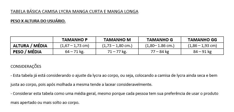 Lycra Surf Camisa Proteçao Uv Alta Qualidade M E G - R  85 4672c1aef471a