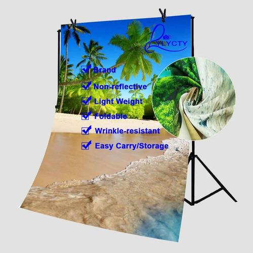 lyly county fondo de fotografía 5x7ft sol de verano costa de