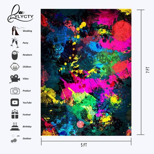 lyly county graffiti painting backdrop 5x7ft arte abstracto