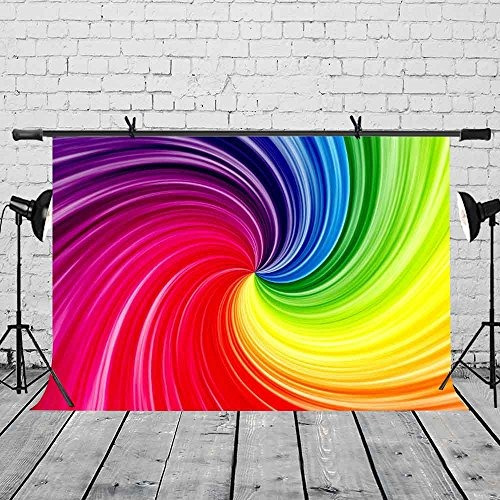 lylycty 7x5ft arte artístico telón de fondo arco iris color