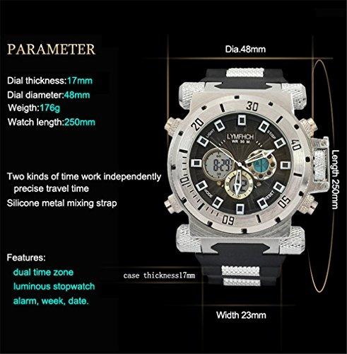 lymfhch relojes deportivos  hombres cronómetro militar multi