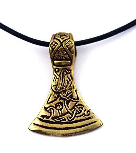 lynnaround bronce celta vikingo odin thors cabeza hacha mar