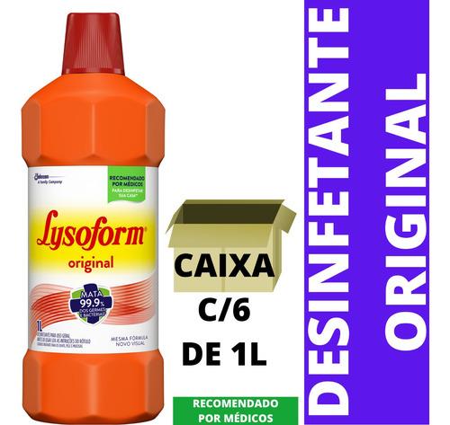 lysoform 1l cx c/6 bruto original bactericida desinfetante