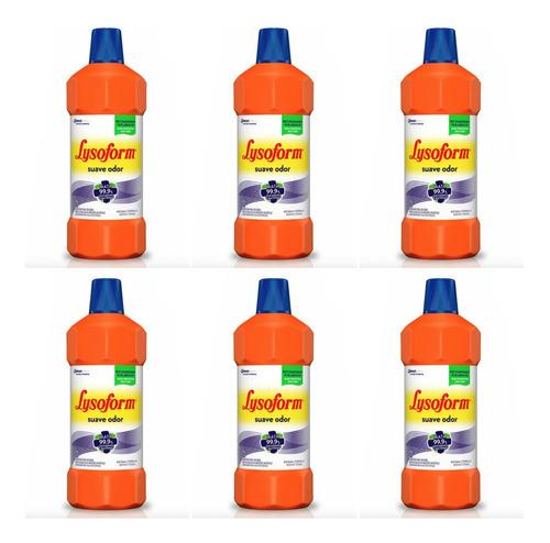 lysoform bruto desinfetante suave odor 1 l (kit c/06)