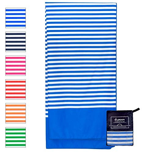 lytepark microfiber beach towel for travel   oversized xl 70