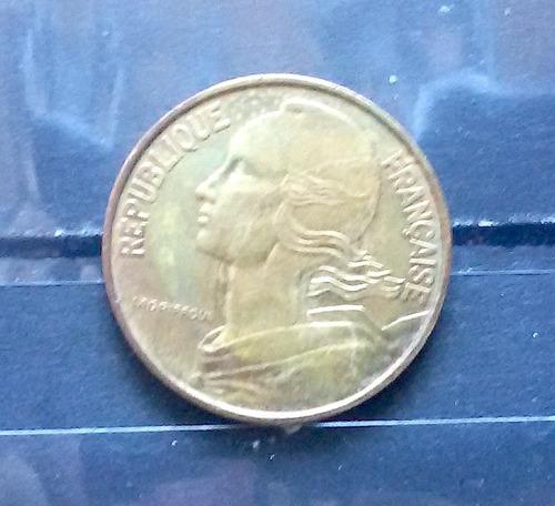 m 0017 moeda antiga franca 20 centavos 1963