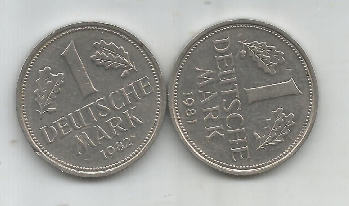 M 6904 Alemania Federal Lote 2 Monedas Un Marco - $ 90,00 en Mercado ...