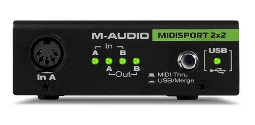 m-audio midisport 2 x 2 usb bus-powered midi interface