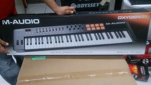 m-audio oxygen 61 key teclado controlador midi usb