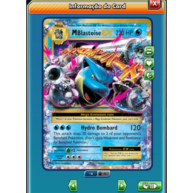 M Blastoise Ex Evolutions Pokémon Tcg Online (virtual)