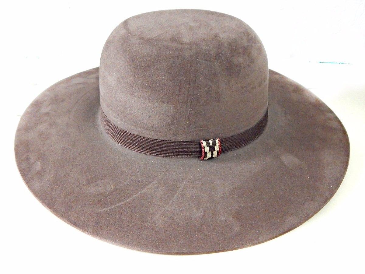 m - chapéu gaúcho pantaneiro cor marrom aba 10cm+ barbicacho. Carregando  zoom. 45e4719e2ed