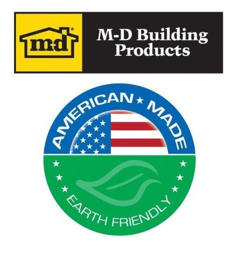 M-D Building Products 6098 M-D L-Shape Door Sweep Bright Brite Gold 1-3//8 in W X 36 in L quot
