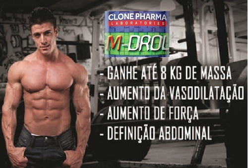 m-drol 60 caps - 100% original - clone pharma - frete grátis