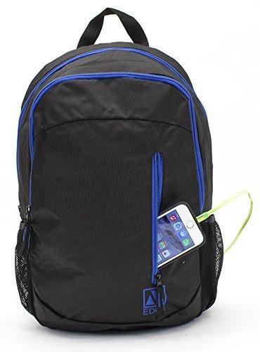 m-edge flex mochila con batería (negro/azul)