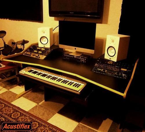 m pro studio 2 acustiflex - mesa escritorio estudio rack