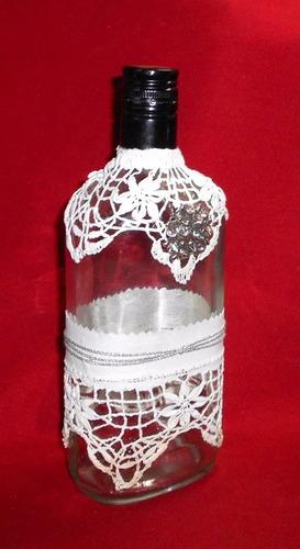 m106 exclusiva botella reciclada vintage shabby chic puntill