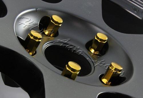 m12 x 1.25 \acorn estilo oro sintonizador rueda de tuercas