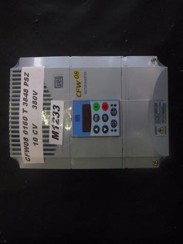 m1233- inversor weg cfw08 motor 10 cv - 380v