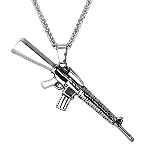 M16 rifle shape pendant amp collar acero inoxidable rock a m16 rifle shape pendant amp collar acero inoxidable rock a aloadofball Image collections