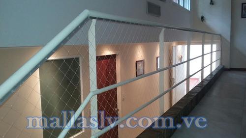 m2 14 - malla rombos pequeño, malla de seguridad - ventanas
