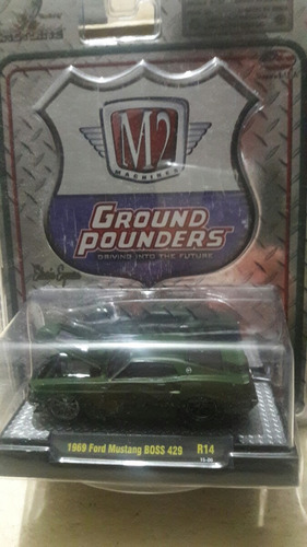 m2 1969 ford mustang boss 429 . r14 color verde