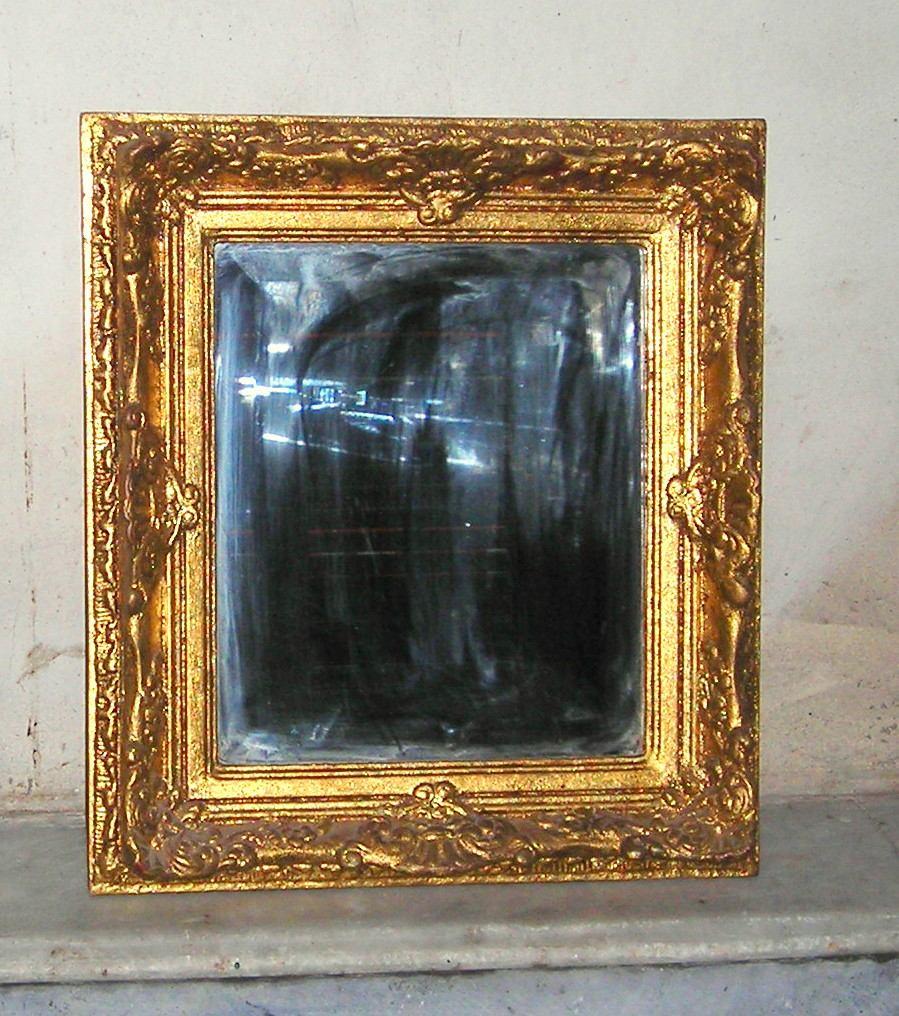 M2 Antiguo Espejo Marco Madera Dorado A La Hoja Con Oro - $ 1.100,00 ...