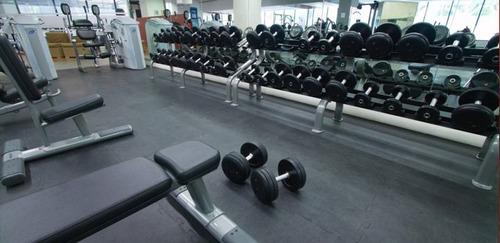 m2 de piso para gimnasio caucho importado fire sports