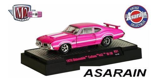 m2 detroit muscle 31 1970 oldsmobile cutlass 442 rosa 1/64