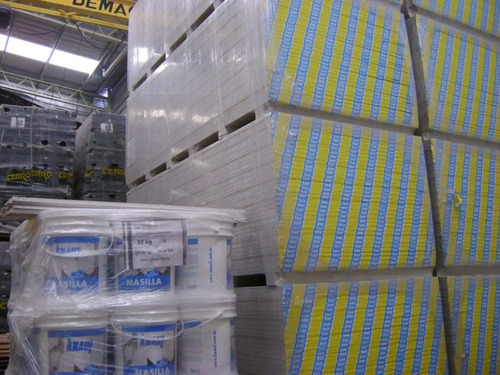 m2 placa de yeso cielorraso pared revestimiento richard yeso