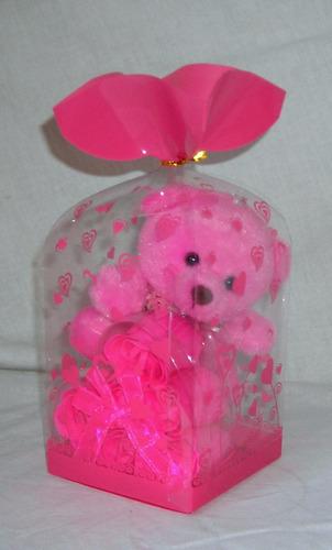 m22 caja regalo con oso llavero de peluche y jabon
